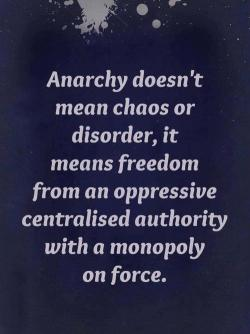 definition of anarchy…