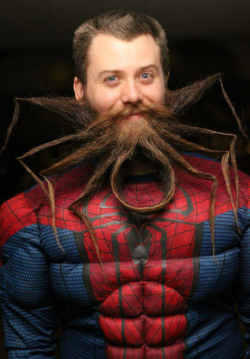 laughingsquid:   Beard Shaped Like The Spider-Man Logo