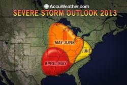 Meteorologists Warn of Active Severe Storm Season  AccuWeather long-range forecasters are predicting an active severe storm season during spring of 2013.