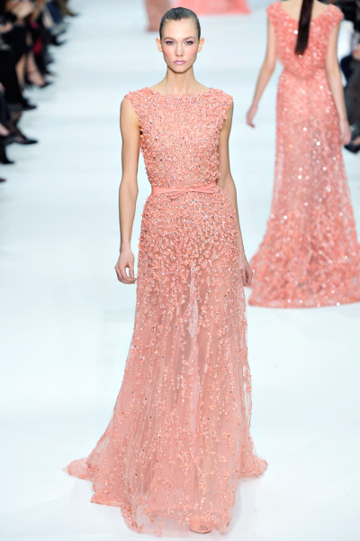 Karlie Kloss at Elie Saab Haute Couture Spring/Summer 2012
