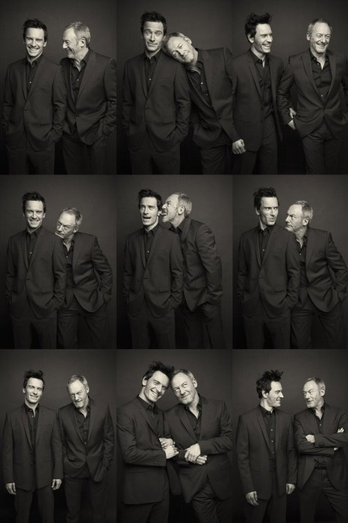 gasstation:  Michael Fassbender & Liam Cunningham photographed by Barry McCall