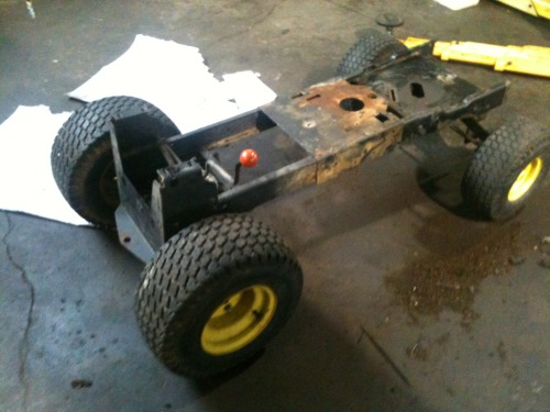 Time to mod it out were going mower racing………….MOW HARD!