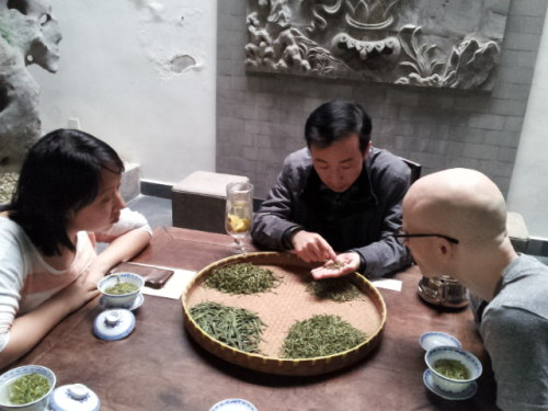 Enjoying Huangshan Mao Feng Green Tea Learning more about Huangshan mao feng green tea from a 6th generation tea making expert in his family's showroom on a historical walking street in Tunxi, Anhui. _______________________________________________________________ If you enjoyed this article, sign up for Tranquil Tuesdays' newsletter to  Explore the stories behind each of Tranquil Tuesdays teas and teaware Travel with Tranquil Tuesdays seeking the best teas and teaware in China Learn the historical and cultural elements that make Chinese tea and teaware so unique Sign up for Tranquil Tuesdays' newsletter now!