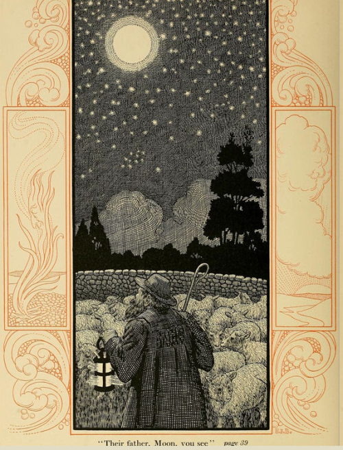 """The Parting of Heaven and Earth"" from ""Tales Told at Twilight"" 1904 by Katherine M. Iliffe and Illustrated by P.J. Billinghurst"