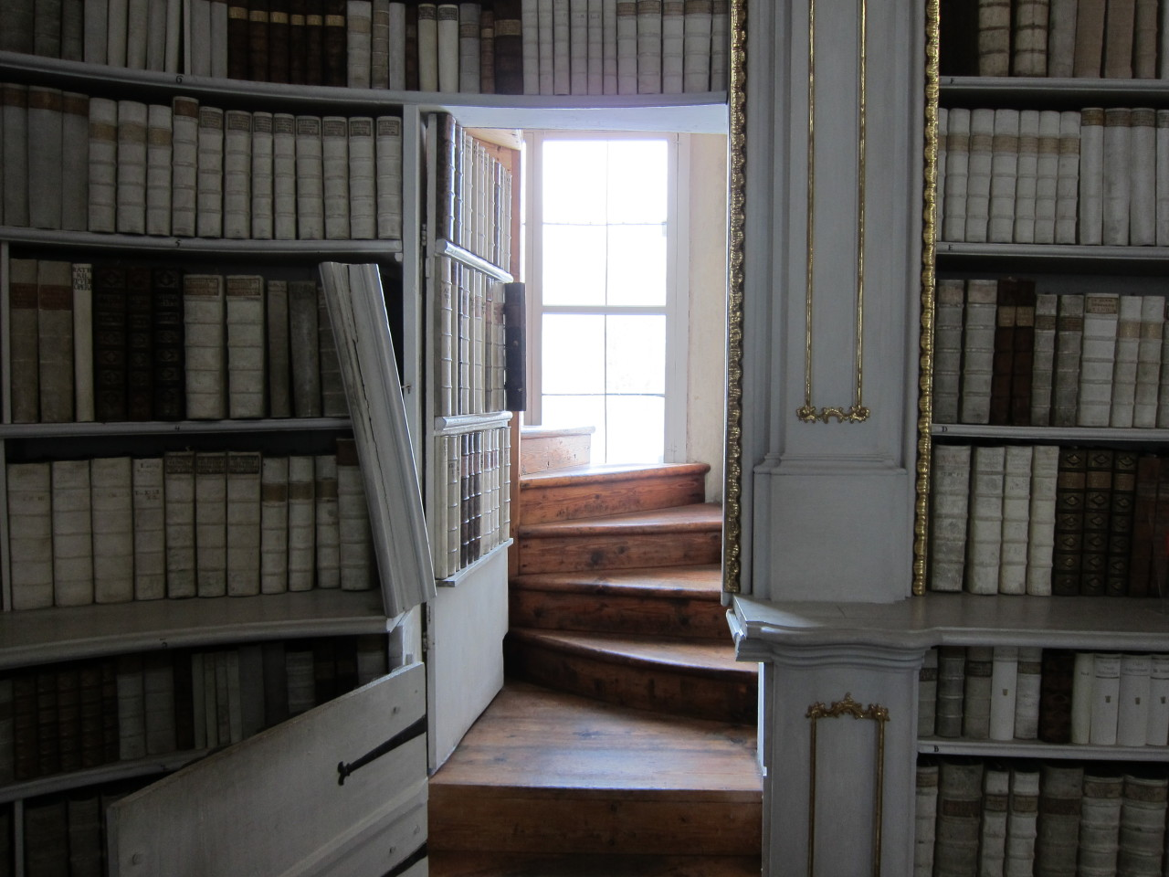 olympialetan:  One of the secret doors of the Stift Admont library, Austria.