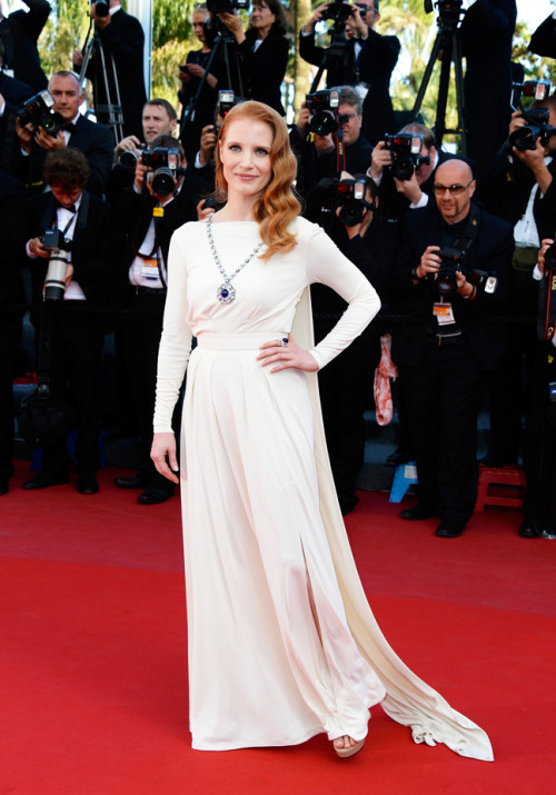 hardying:  Jessica Chastain attends the 'Cleopatra' screening at the Cannes Film Festival, May 21.    OMG TRUE QUEEN