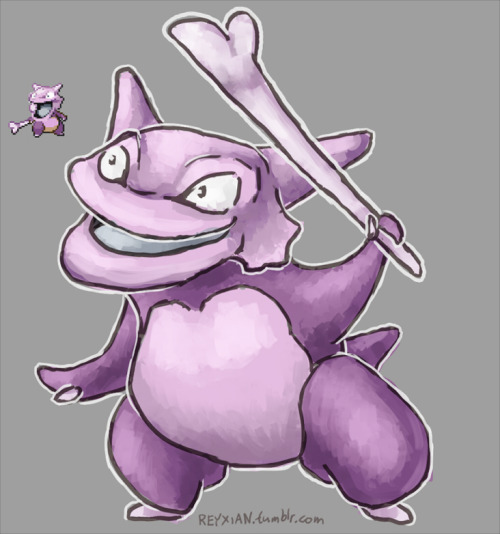 It looked far to weird not to draw. Gribone. Grimer + Cubone