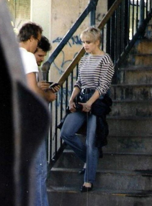 #Madonna and director James Foley on the set of Papa Don't Preach 1986