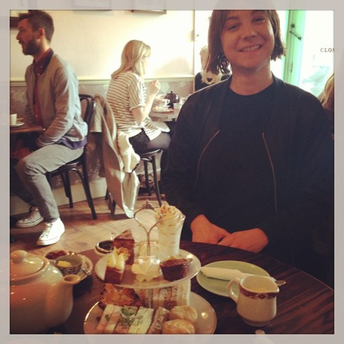 Hungover high tea (at The Tea Rooms)