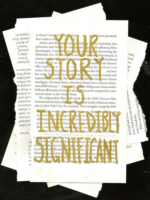 twloha:  Your story is incredibly significant. No matter where you've come from or where you go, you will always matter.