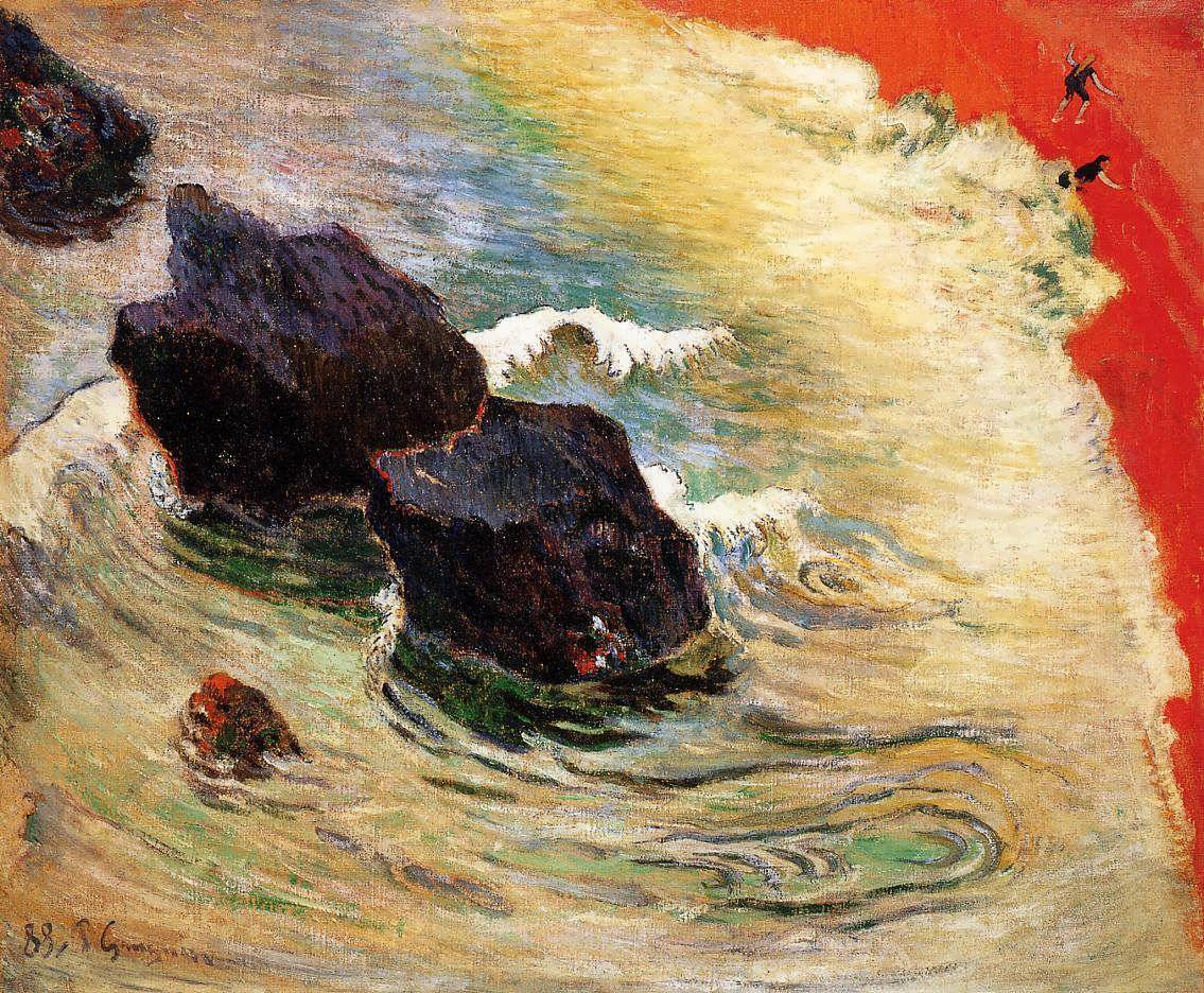 lifeinfluxus:  The Wave - Paul Gauguin (1888)