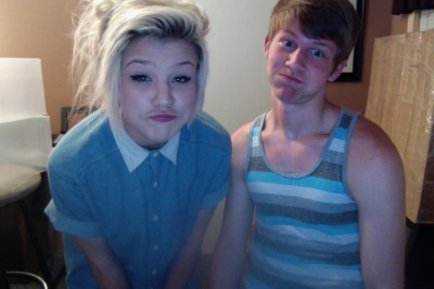 Duck face & derp lips. cute aren't we.