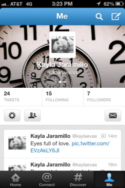 Be my twitter pal!  I WILL FOLLOW BACK.  @kaylaevaa