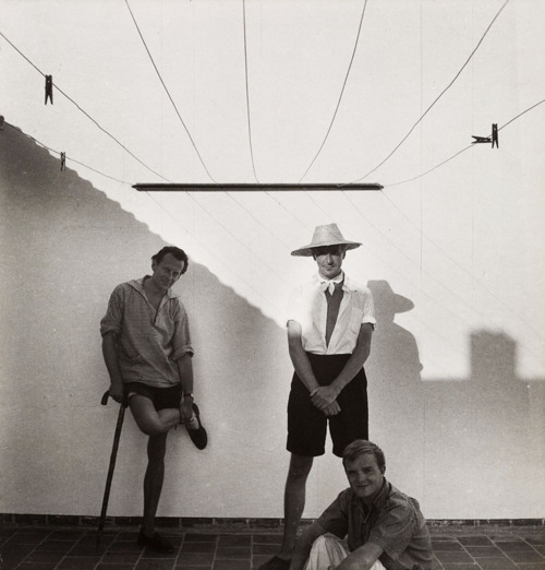 David Herbert, Cecil Beaton and Truman Capote, Morocco, 1949.
