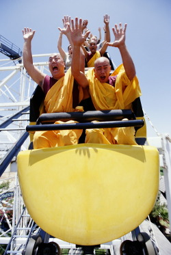 thegoddamazon:  Monks on a Rollercoaster.