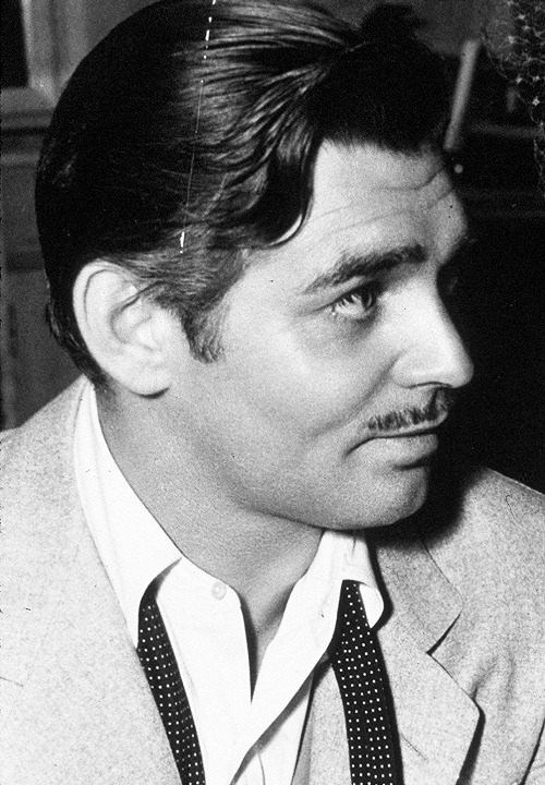 Clark Gable on the set of Honky Tonk (1941)
