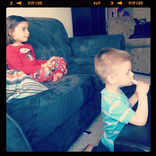 If all else fails, give them string cheese and let them watch tv. #babysitting