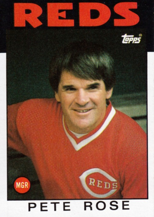 Random Baseball Card #2377: Pete Rose, manager, Cincinnati Reds, 1986, Topps.