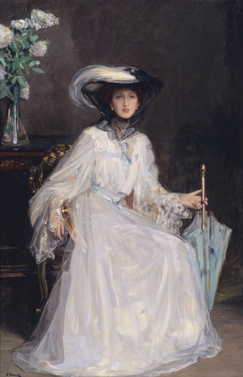 Portrait of Evelyn Farquhar  John Lavery, 1906