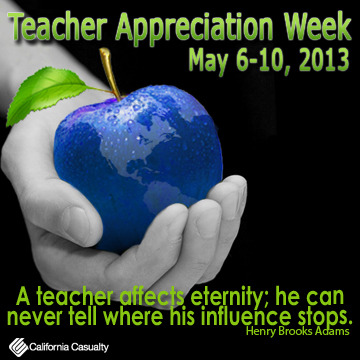 Happy Teachers Appreciation Week! You guys just rock. Can't thank you enough for all you do. Enjoy your week :) Spoil yourselves and each other!