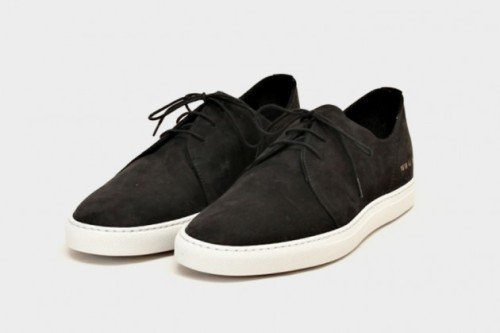 Nabuck Rec Shoes by Common Projects are the perfect informal shoes to wear everyday, if your work does not require to be in a suit 24/7. I would match them with a pair of rolled up dark denim slim fit jeans and a white tee. Summer's calling.