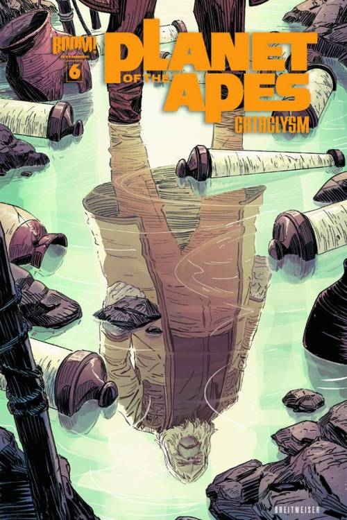 Market Monday Planet of the Apes: Cataclysm #6, co-written by Corinna Bechko  Eight years before Astronaut George Taylor fell from the stars…the stars fell on the PLANET OF THE APES! As Ape City struggles to build itself back together, tensions between the ape races are reaching a boiling point as aid quickly runs out. Zira and Lucius struggle to find help before chaos descends, once again, on the planet of the apes!  ~Preview~