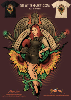 THE GIRL WHO WAITED by Megan Lara and Omega Man 5000 is available at Teefury.com today for $11 only!