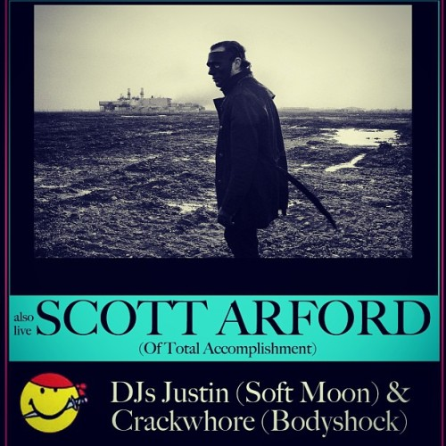 Live show tomorrow night with Scott Arford and Justin of Soft Moon DJing. Elbo Room. San Francisco, CA