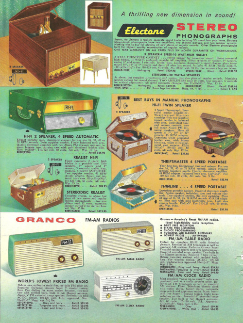 electone granco radios record players (by Millie Motts)