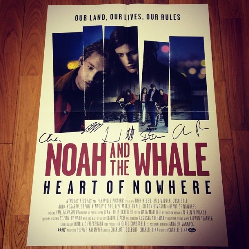 arrived!! (๑❛ᴗ❛๑)♬♩♪ #noahandthewhale #heartofnowhere #poster #signature