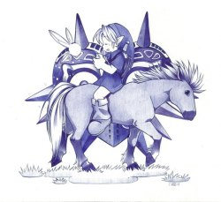 hylian-pudding:  old ballpen pic is ooooooold by *NPC-Dion