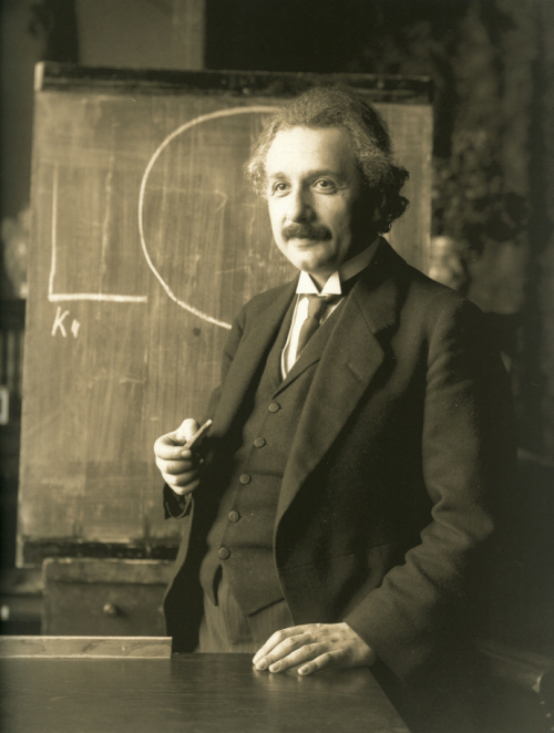 "kvetchlandia:  F. Schmutzer     Albert Einstein, Vienna     1921 ""Make everything as simple as possible, but no simpler.""  Albert Einstein  Nick you should worship him."