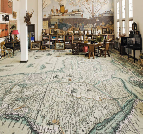 villere:  World map carpet by Area Pavimenti