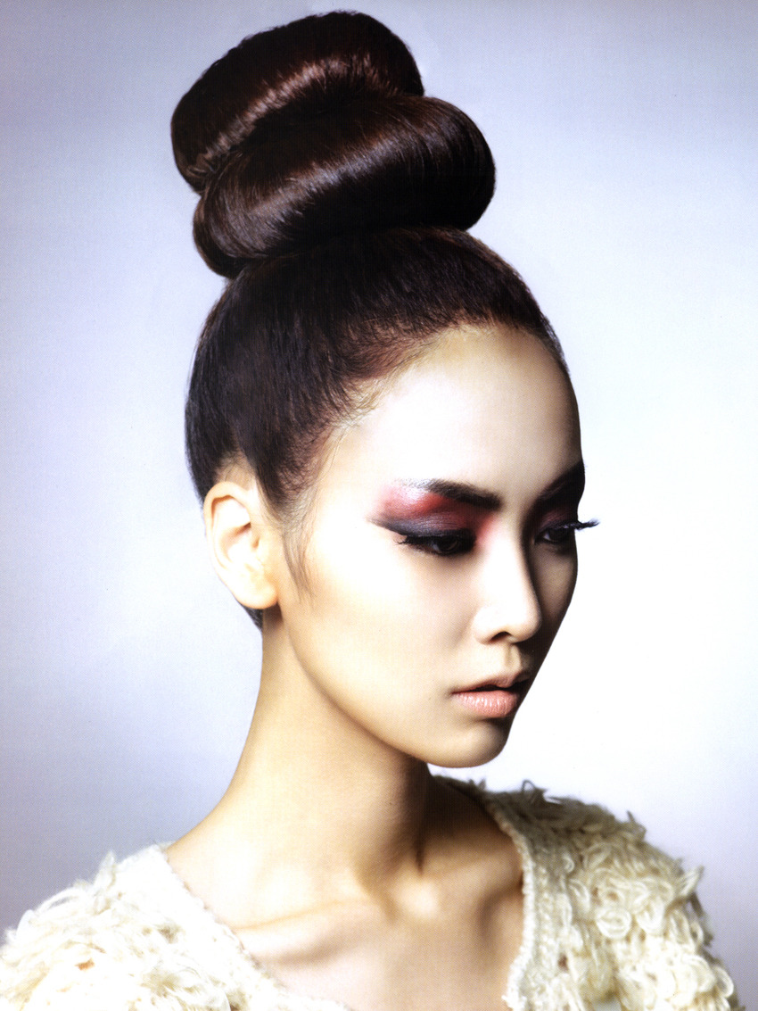koreanmodel:  Park Min Ji for Hair Graphy Nov 2012
