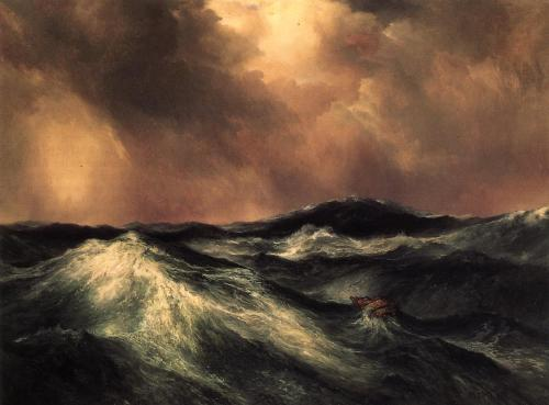 cavetocanvas:  Thomas Moran, The Angry Sea, 1911