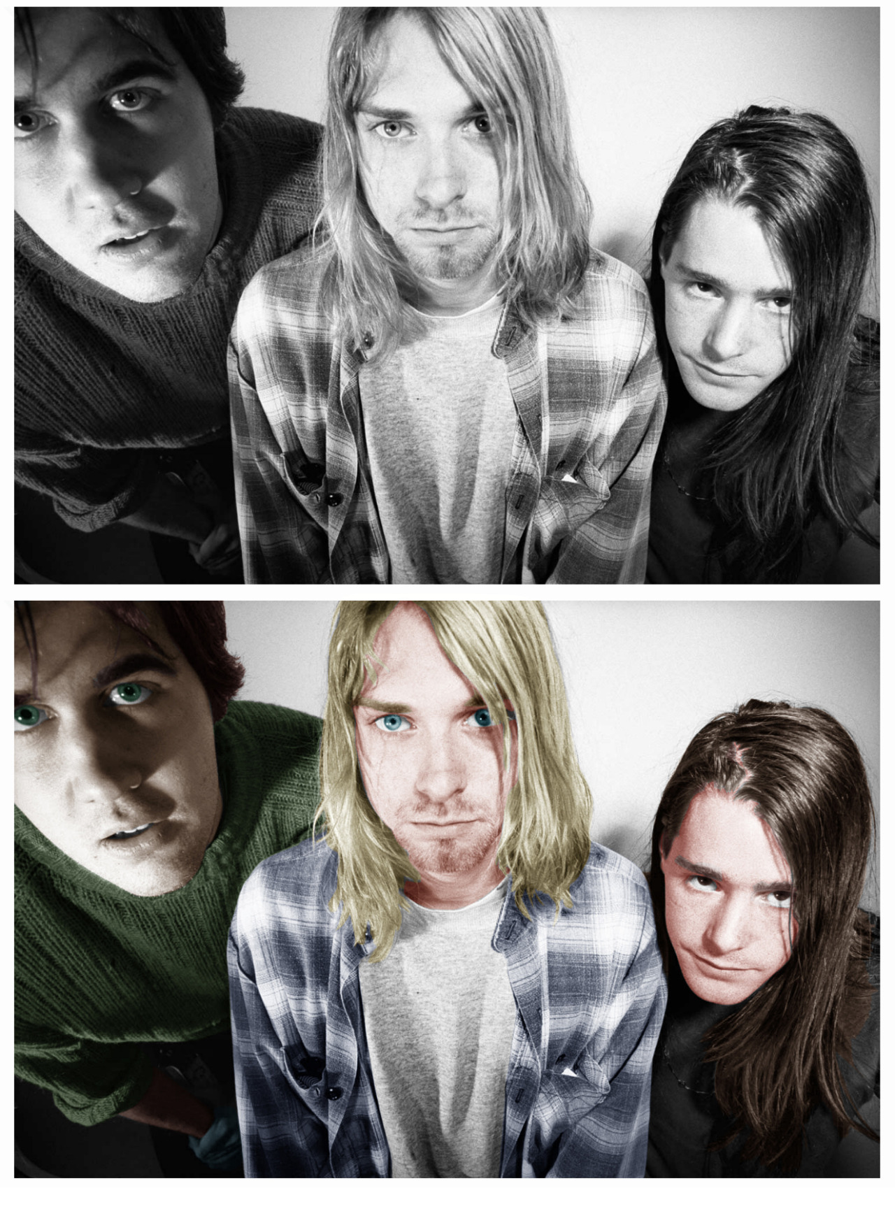 Coloured another Nirvana Photo, kinda rushed, ahh well
