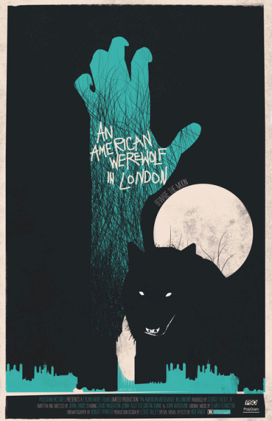 hellyeahhorrormovies:  An American Werewolf In London (1981)  These poster remakes don't usually do a lot for me, but this is just excellent.