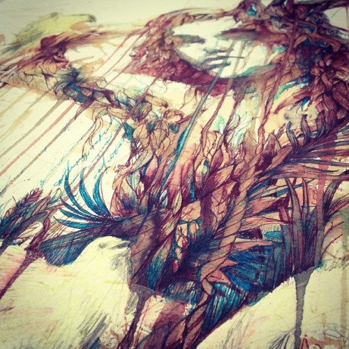 carnegriffiths:  Detail from spring will come.. 2 days until charity auction ends .. http://tinyurl.com/cgp8zd3