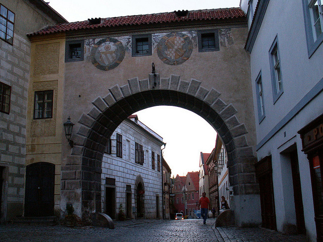 | ♕ |  Cesky Krumlov - city gate at dawn  | by © Pedro NC