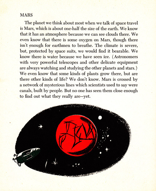 What science knew about Mars in 1953. Pair with Carl Sagan, Ray Bradbury, and Arthur C. Clarke in conversation about Mars in 1971.