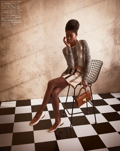 "blackfashion:  Melodie Monrose & Kone Sindou in ""Retro Fitted"" for Elle US April 2013 photographed by Mariano VivancoStyled byBeth Fenton"