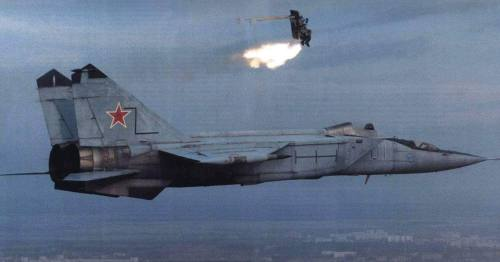 Test eject of a Mig-25RU. [It's just a mannequin.]