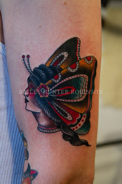Did this lil butterfly lady last week on a great fellow from Canada. thanks for looking BHR