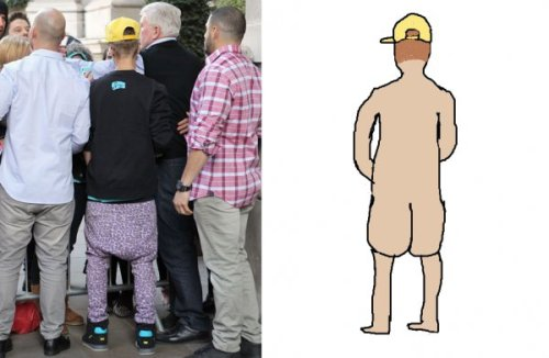 Justin Bieber's Accurate Anatomy The beauty and the butt.