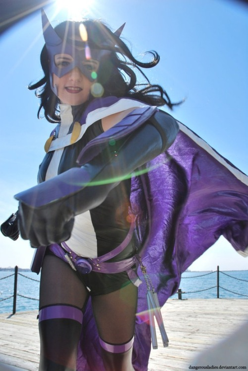 comicheroines:  Huntress Cosplay  Reblogging friends and adding the source, aw yeah. Next One On My Hit List by ~dangerousladies