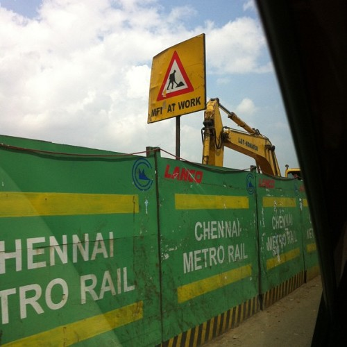 #chennai #metro #rail project .. major surgery going on .. hope it solves a few problems than create more .. #madras #tamilnadu #india