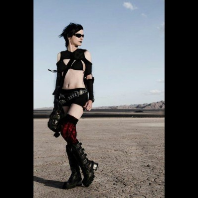 Still one of my favorite photos. #cyberpunk #goth #newrocks #desert #dystopia #me