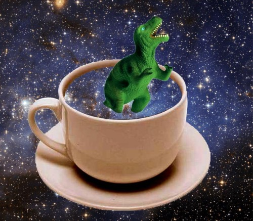 Nothing like a good cup of space-dinosaur