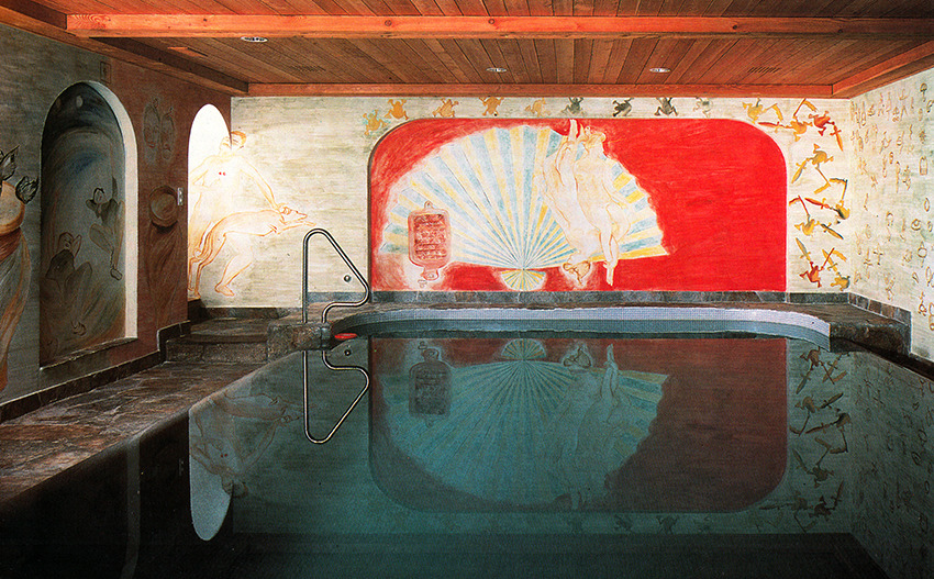 aqqindex:  Francesco Clamente, Frescos for an Indoor Pool