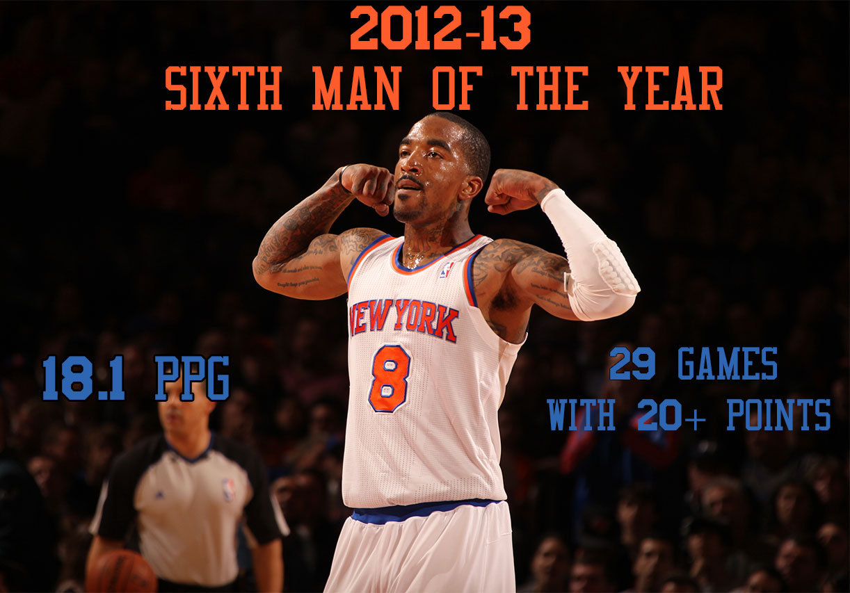 J.R. Smith named the NBA's 2013 Sixth Man of the Year. (Picture posted by bleacherreport)